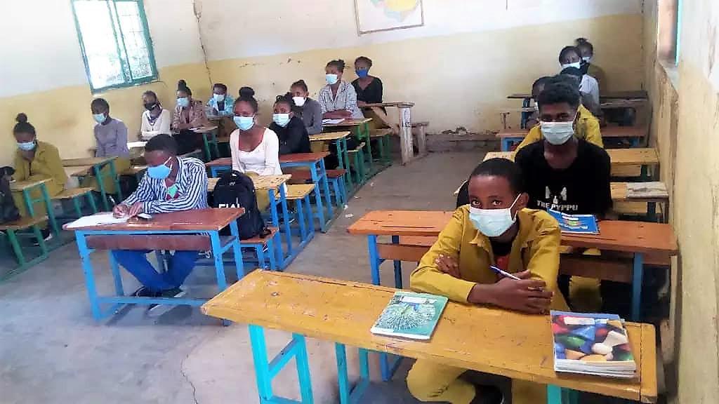 Schulanfang 2021 in Hundee Guddinaa / Äthiopien
